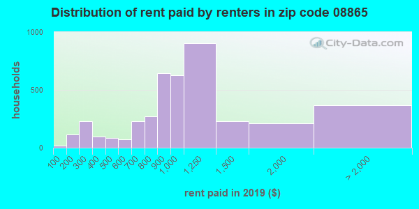 08865 rent paid by renters