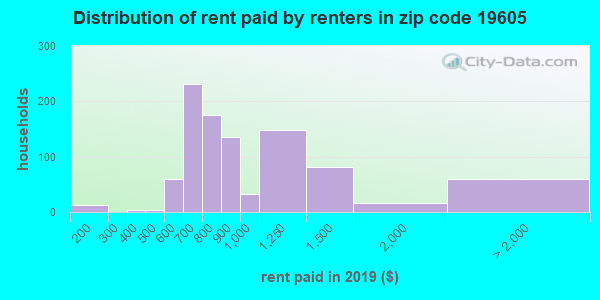 19605 rent paid by renters