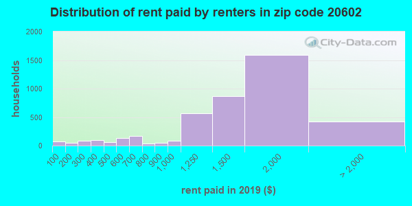 20602 rent paid by renters