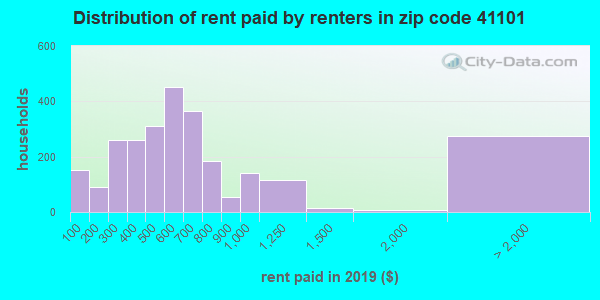 41101 rent paid by renters