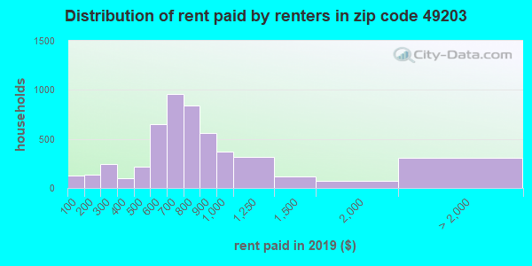 49203 rent paid by renters