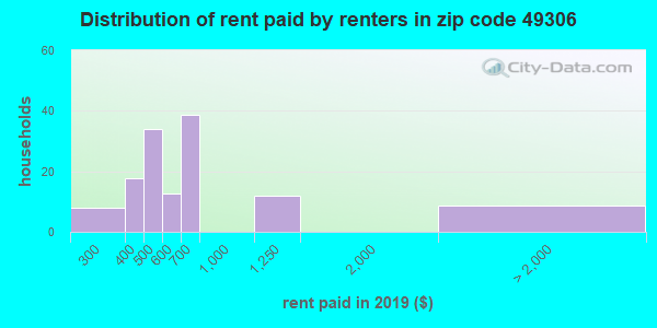 49306 rent paid by renters