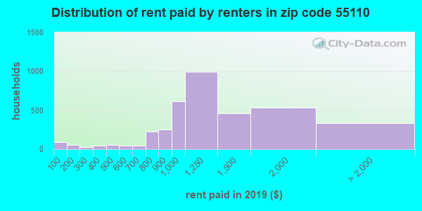 55110 rent paid by renters