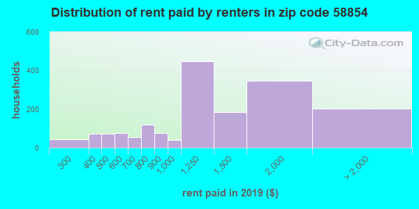 58854 rent paid by renters