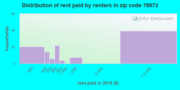 78873 rent paid by renters