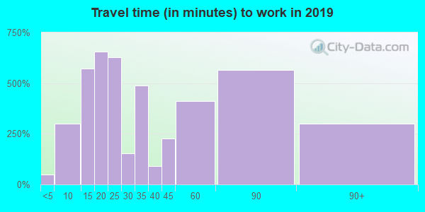 02191 zip code travel time to work (commute)