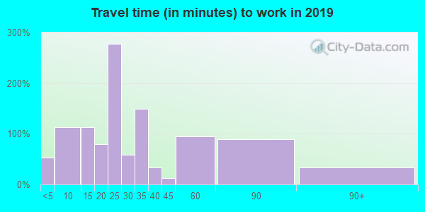 03256 zip code travel time to work (commute)
