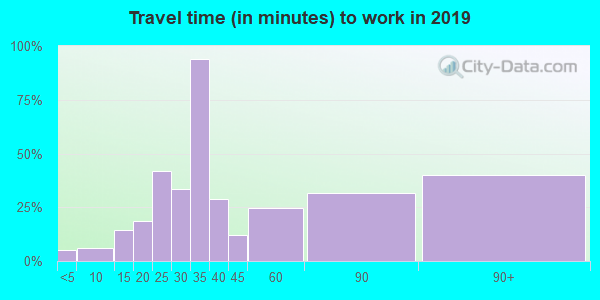 03456 zip code travel time to work (commute)