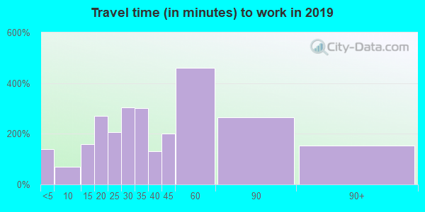 03819 zip code travel time to work (commute)