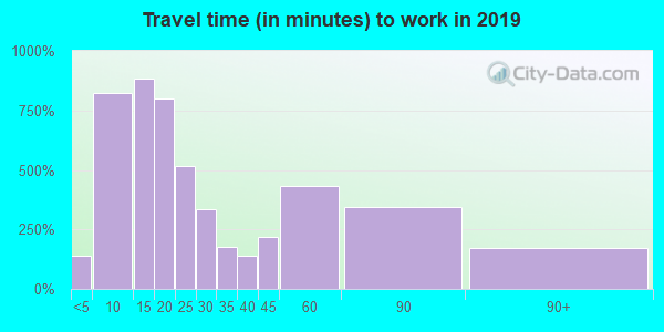 03909 zip code travel time to work (commute)
