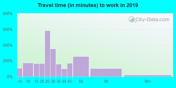 04252 zip code travel time to work (commute)
