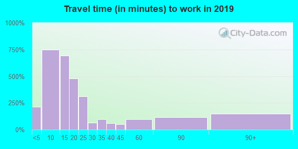 05855 zip code travel time to work (commute)