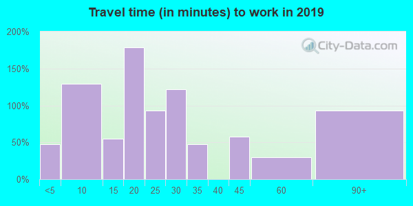 06256 zip code travel time to work (commute)