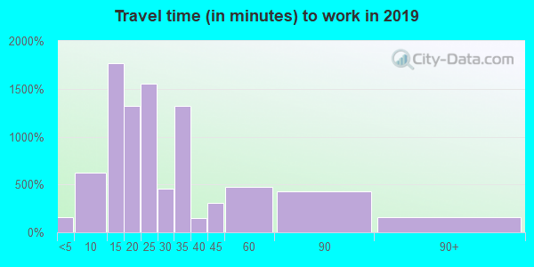 08110 zip code travel time to work (commute)