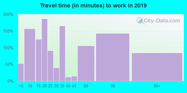 08741 zip code travel time to work (commute)