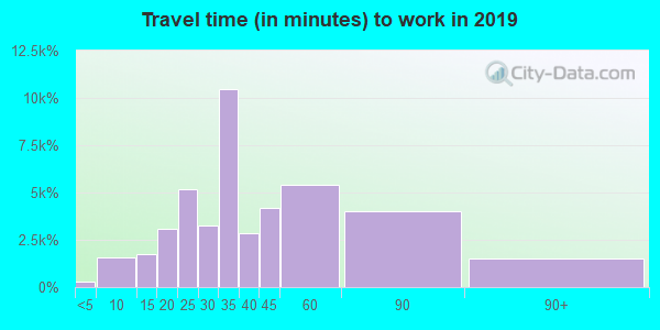10025 zip code travel time to work (commute)