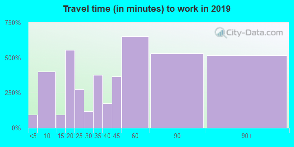10579 zip code travel time to work (commute)