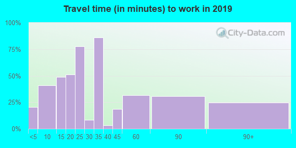 10931 zip code travel time to work (commute)