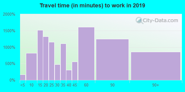 10954 zip code travel time to work (commute)