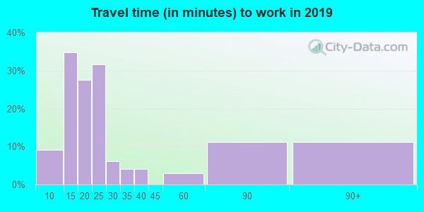 11959 zip code travel time to work (commute)