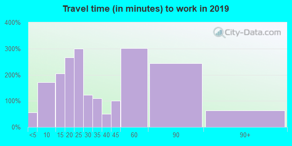 12122 zip code travel time to work (commute)