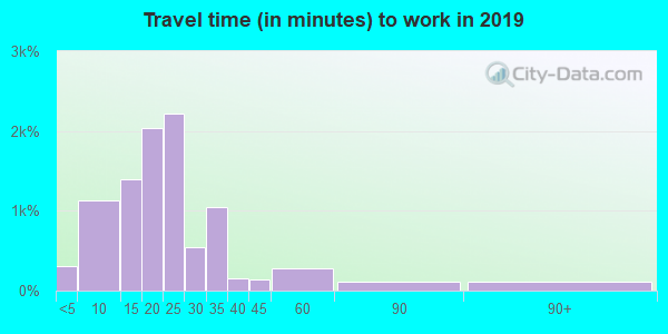 12189 zip code travel time to work (commute)