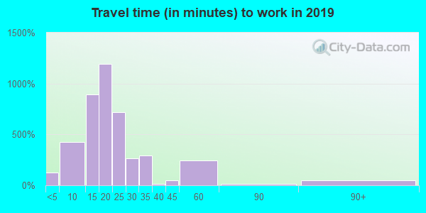12204 zip code travel time to work (commute)