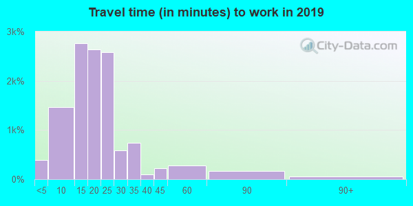 12208 zip code travel time to work (commute)
