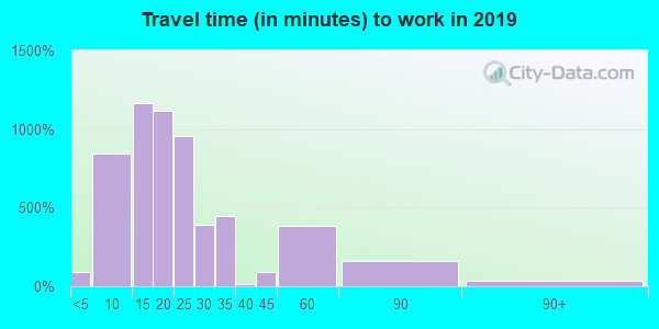 12210 zip code travel time to work (commute)