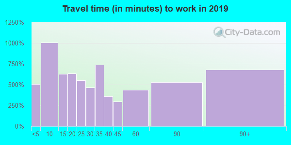 12771 zip code travel time to work (commute)
