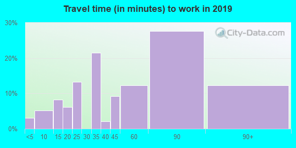 12819 zip code travel time to work (commute)