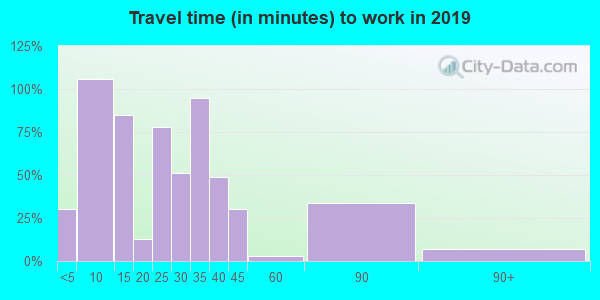 12824 zip code travel time to work (commute)