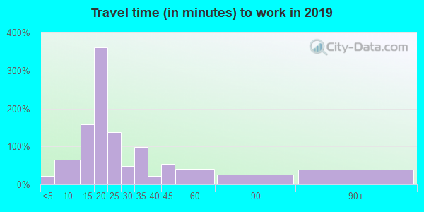 13101 zip code travel time to work (commute)