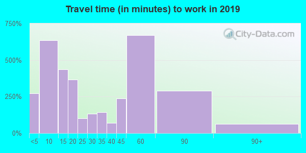 17061 zip code travel time to work (commute)
