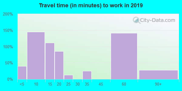 17099 zip code travel time to work (commute)