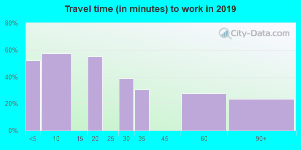 18333 zip code travel time to work (commute)