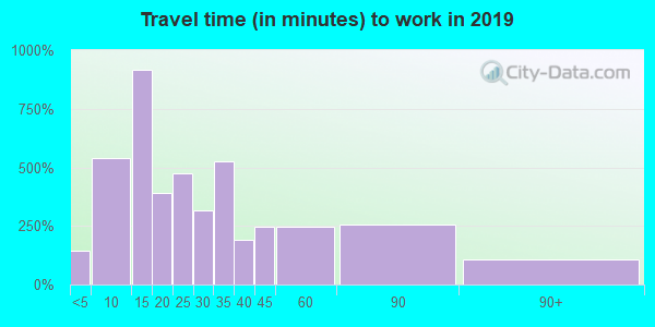 19311 zip code travel time to work (commute)