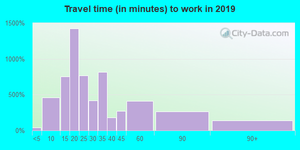 19602 zip code travel time to work (commute)