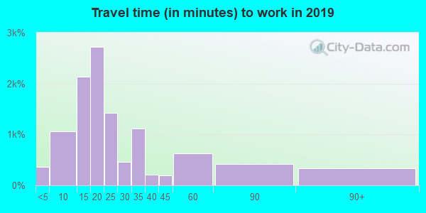 19607 zip code travel time to work (commute)
