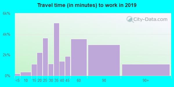20019 zip code travel time to work (commute)