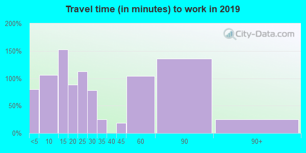 20198 zip code travel time to work (commute)
