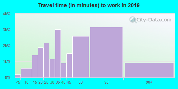 20785 zip code travel time to work (commute)