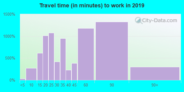 20855 zip code travel time to work (commute)