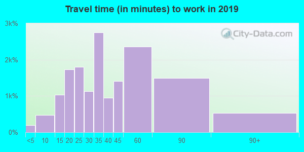 21133 zip code travel time to work (commute)