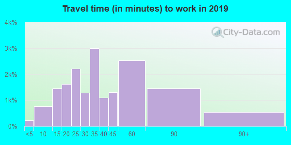 21136 zip code travel time to work (commute)