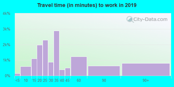 21225 zip code travel time to work (commute)