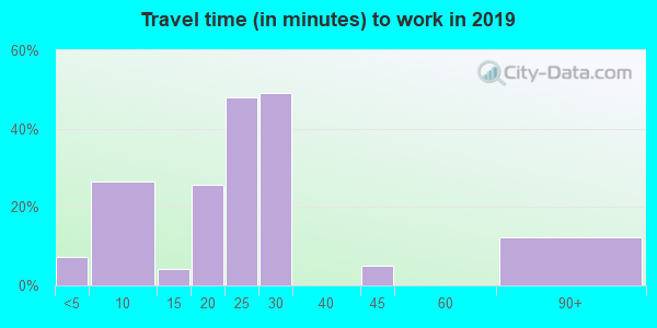 21529 zip code travel time to work (commute)