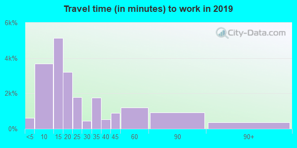 21804 zip code travel time to work (commute)