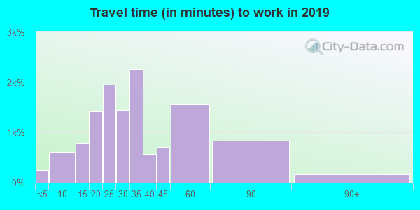 22101 zip code travel time to work (commute)