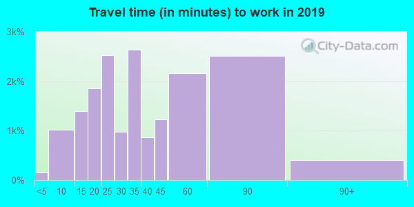 22306 zip code travel time to work (commute)